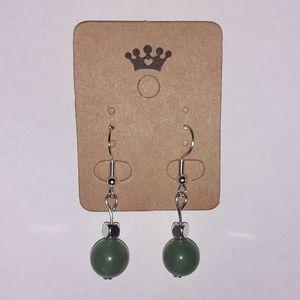 Healing Green Aventurine Hook Earrings
